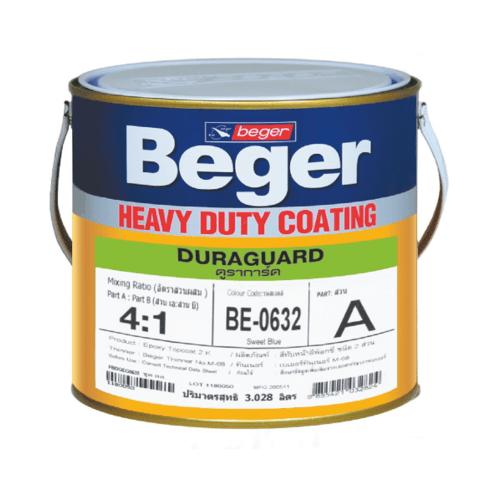Beger สีทาทับหน้า ภายใน BE-0518 ดูราการ์ด (Dark Green) ชุด กล. -