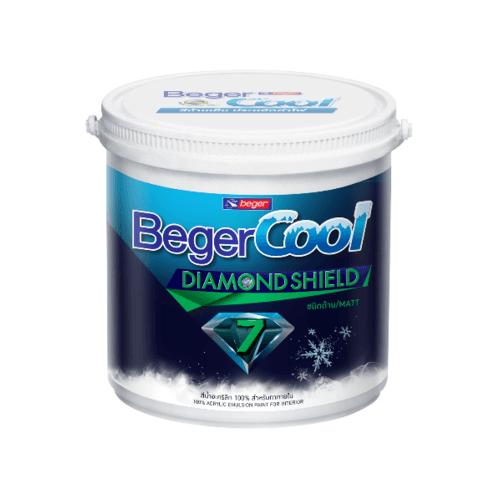 Beger สีน้ำอะครีลิคเบเยอร์คูล ไดมอนด์ชิลด์ 7 ปี ภายใน เบส B กล. สีขาว