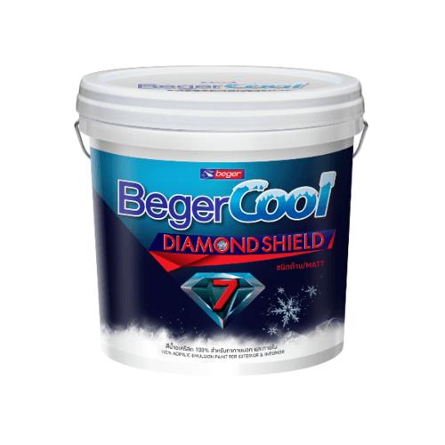 Beger สีน้ำอะครีลิคเบเยอร์คูล ไดมอนด์ชิลด์ 7 ปี ภายนอก เบส B กล. สีขาว