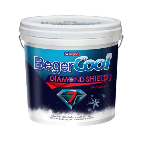 Beger สีน้ำอะครีลิคเบเยอร์คูล ไดมอนด์ชิลด์ 7 ปี ภายนอก เบส C ถัง สีขาว