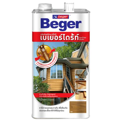 Beger ผลิตภัณฑ์รักษาเนื้อไม้ เบเยอร์ไดร้ท์ ชนิดทา สูตรน้ำมัน  1.5LT. สีน้ำตาลดำ