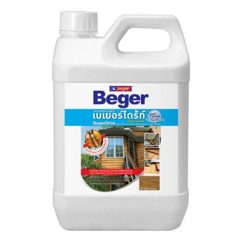 Beger ผลิตภัณฑ์รักษาเนื้อไม้ เบเยอร์ไดร้ท์  ชนิดทา สูตรน้ำ   (1.5LT) สีใส
