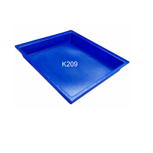 ฉลาม S&P ถาดสีเหลี่ยมขนาดกลาง 30 ลิตร. K209 สีน้ำเงิน