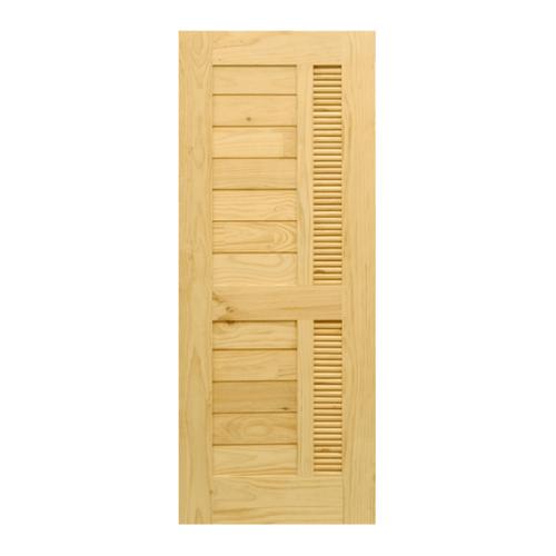D2D ประตูไม้สนนิวซีแลนด์ ขนาด  80x180cm.  Eco Pine-019