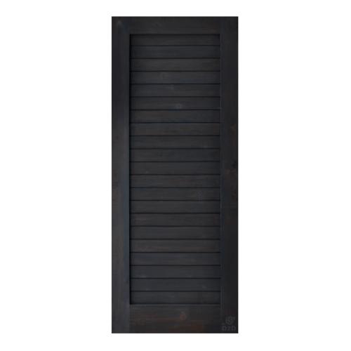 D2D  ประตูไม้ดักลาสเฟอร์ บานทึบทำร่อง  100x200ซม. สีแบล็คแอช ECO EZERO-3