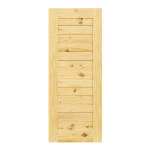 D2D ประตูไม้สนนิวซีแลนด์ บานทึบทำร่อง  105x205cm.   Eco Pine-001