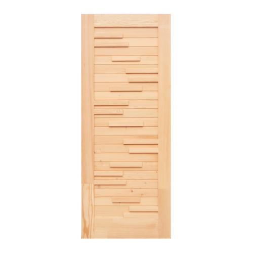 D2D ประตูไม้ดักลาสเฟอร์ บานทึบทำร่องโมเดอร์น 90x220cm. Eco Pine-033