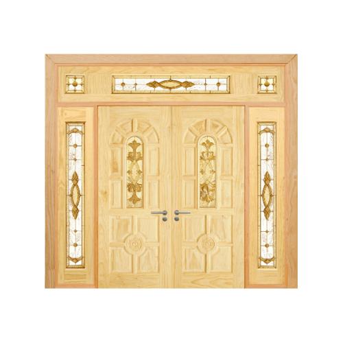 D2D ประตูไม้สนนิวซีแลนด์ SET5 ขนาด 90x200 cm.  D2D-415
