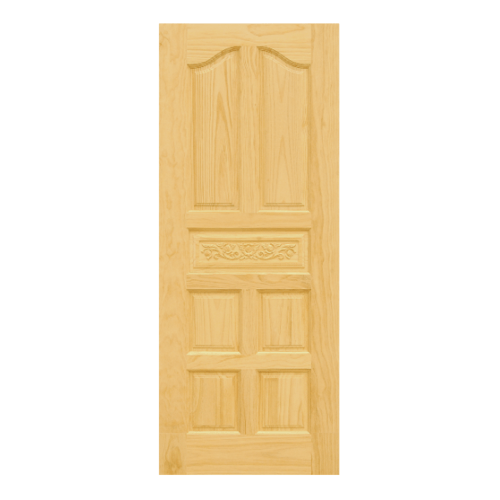 D2D ประตูไม้สนNz บานทึบลูกฟักแกะลาย 80x205cm.   Eco Pine-010