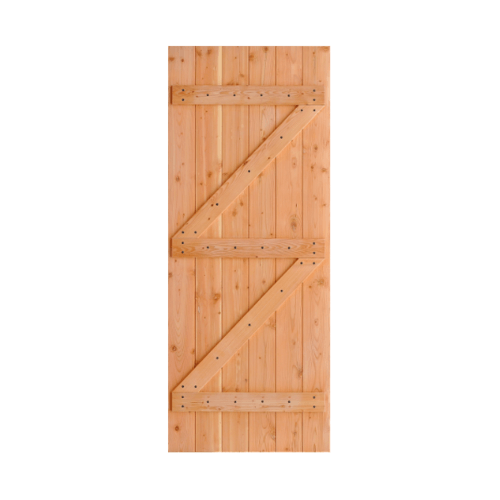 D2D ประตูไม้ดักลาสเฟอร์  บานทึบทำร่อง ขนาด 80x180cm. Eco Pine-99