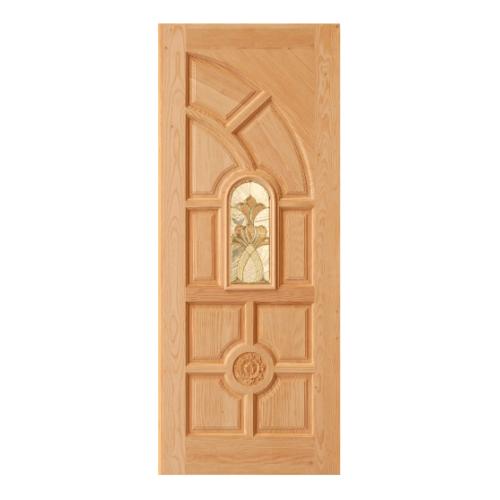 D2D ประตูไม้ดักลาสเฟอร์ ลูกฟักพร้อมกระจก ขนาด 80x200cm. D2D-416