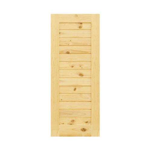 D2D ประตูไม้สนนิวซีแลนด์ บานทึบทำร่อง 50x200cm.  Eco Pine-001