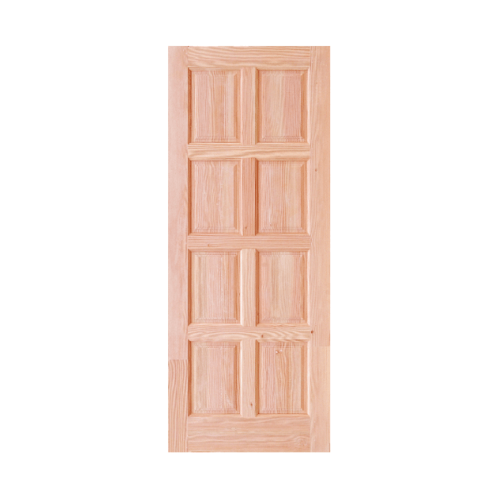 D2D ประตูไม้ดักลาสเฟอร์ บานทึบ 8 ฟัก ขนาด70x200cm.  Eco Pine-016