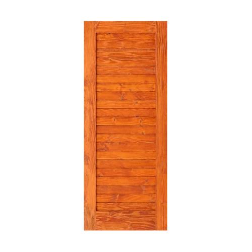 D2D  ประตูไม้ดักลาสเฟอร์ บานทึบทำร่อง ขนาด 80x200ซม.   Eco Ezero3 สีเบรินเรด