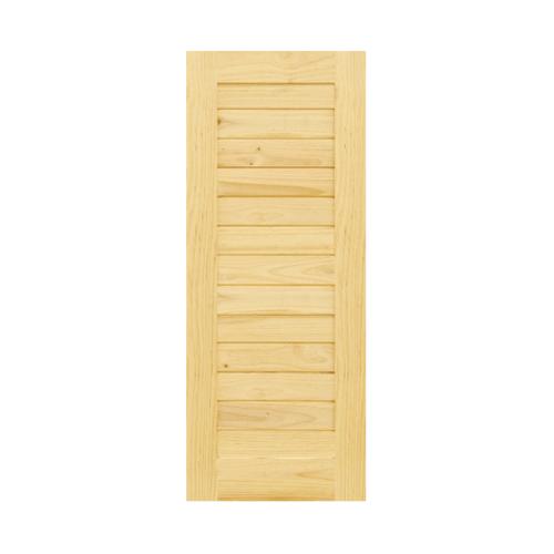 D2D  ประตูไม้สนNz บานทึบทำร่อง ขนาด  90x113ซม.  Eco Pine-001