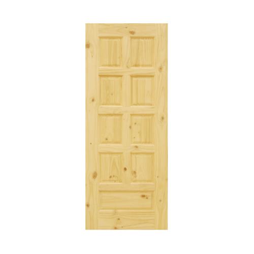 D2D ประตูไม้สนนิวซีแลนด์  80 x 210 cm. Eco Pine-002