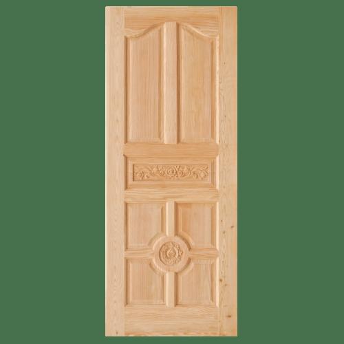 D2D ประตูไม้ดักลาสเฟอร์ บานทึบลูกฟักแกะลาย ขนาด 100x200cm.  Eco Pine-048 ไม้ธรรมชาติ