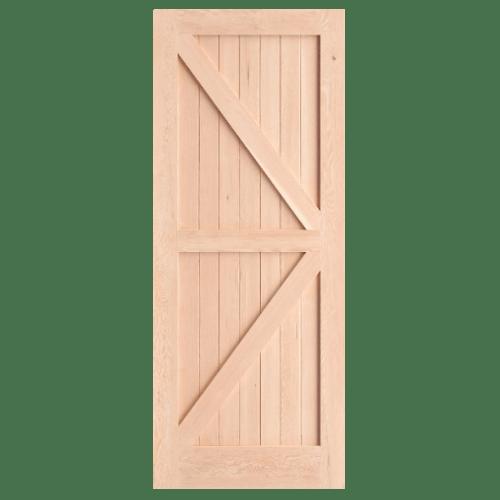 D2D ประตูไม้ดักลาสเฟอร์ บานทึบเซาะร่อง ขนาด 90x220ซม. Eco Pine-66