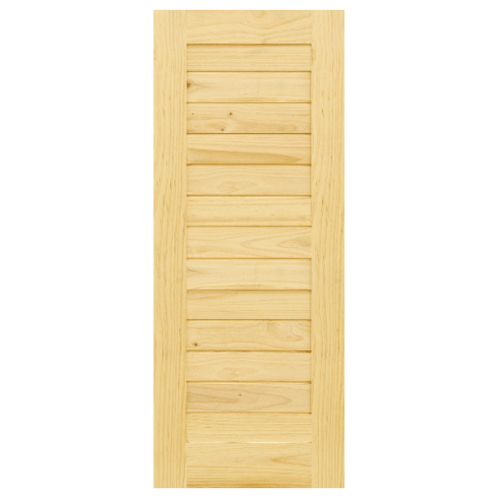 D2D  ประตูไม้สนนิวซีแลนด์ บานทึบทำร่อง ขนาด  90x230ซม. Eco Pine-001