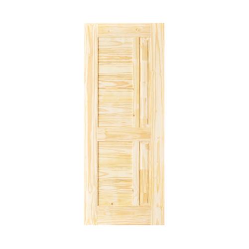 - ประตูไม้สนนิวซีแลนด์ขนาด 74x210 cm.  Eco Pine - 007