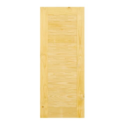 D2D ประตูไม้สนนิวซีแลนด์ขนาด 80x200 cm. D2D-114