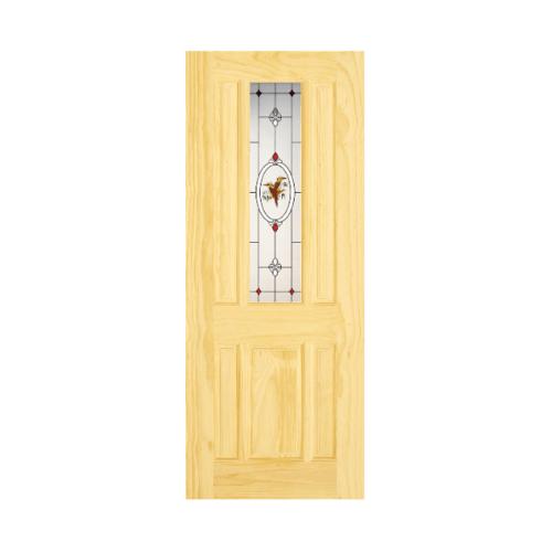 D2D ประตู ไม้ สนนิวซีแลนด์ ขนาด80x200cm.  Eco Pine-028