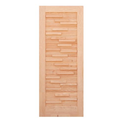 D2D ประตูไม้ดักลาสเฟอร์ ขนาด 93x229.5 cm. Eco Pine-030