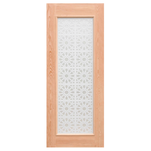 D2D ประตูไม้ดักลาสเฟอร์  80x200 cm.  D2D-601