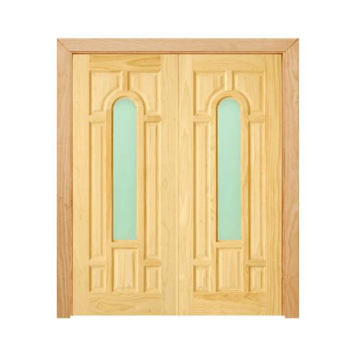 - SET 2 ประตูไม้สนนิวซีแลนด์ ขนาด 80x200 cm. D2D-401