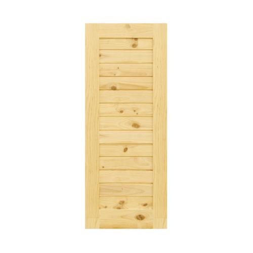D2D ประตูไม้สนนิวซีแลนด์ ขนาด 80x185 cm. Eco Pine-001