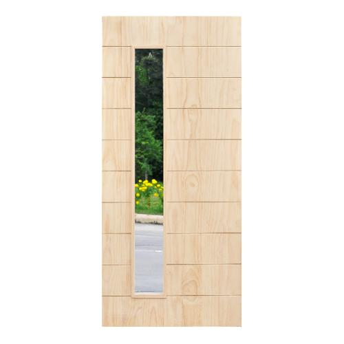 D2D ประตูไม้สนนิวซีแลนด์ ขนาด  80x200cm.ทำสี  407