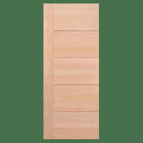 D2D ประตูไม้ดักลาสเฟอร์ บานทึบทำร่อง ขนาด 80x200ซม. D2D-805  ไม้ธรรมชาติ