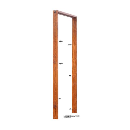 D2D วงกบประตูไม้ดักลาสเฟอร์ ขนาด 80 x 200  cm. FJ COM.1 สีเชสนัท