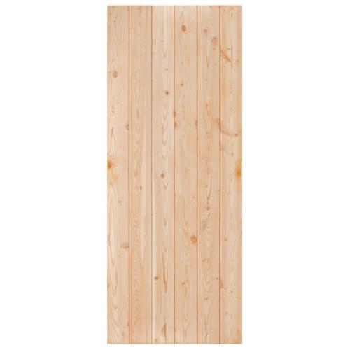 D2D ประตูไม้ดักลาสเฟอร์ บานทึบทำร่อง ขนาด 90 x 200cm. Eco Pine-060