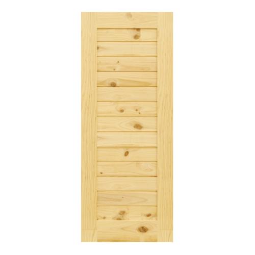 D2D ประตูไม้สนNz บานทึบทำร่อง  ขนาด110x 215cm. Eco Pine-001