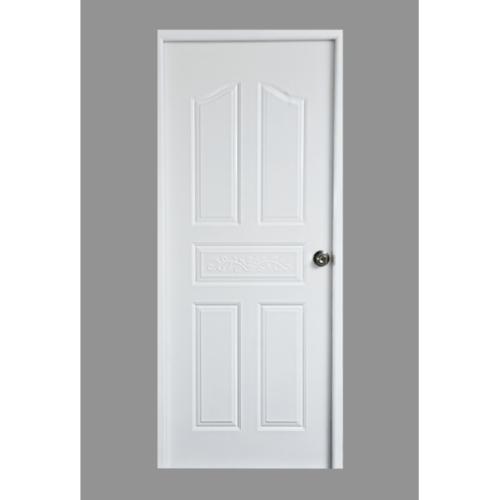 PROFESSIONAL DOOR บานประตูเหล็กขนาด 80x200cm. G1W สีขาว