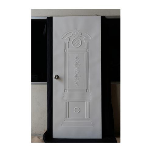 PROFESSIONAL DOOR ประตูเหล็ก ขนาด 80cm.x200cm. เจาะ  K1W สีขาว