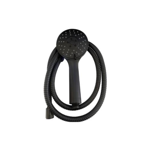 VERNO ชุดฝักบัวสีดำรุ่นปรับน้ำ 3 ระดับ พร้อมสายสเตนเลส 304 New Color VN-11006 สีดำ