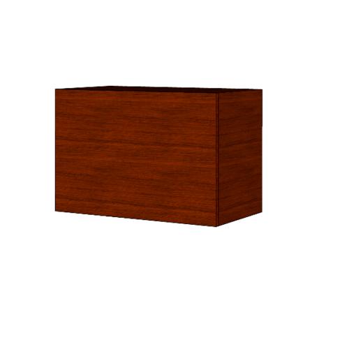 MJ ตู้แขวนบานเปิดเดี่ยว สีวอลนัท HG-W406 -WN