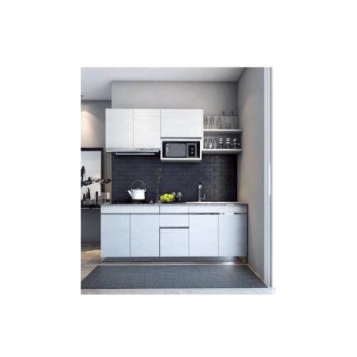 MJ ชุดครัวสำเร็จรูป 2.05 M.  SAV-CS0205-GW สีเทาลายไม้