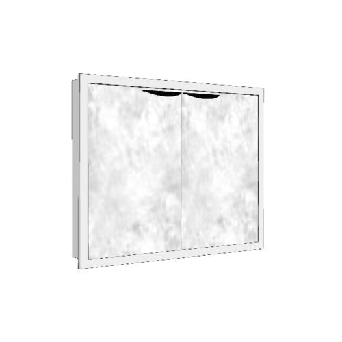 MJ บานซิงค์คู่  สีหินอ่่อนขาว GC-S608 - WM