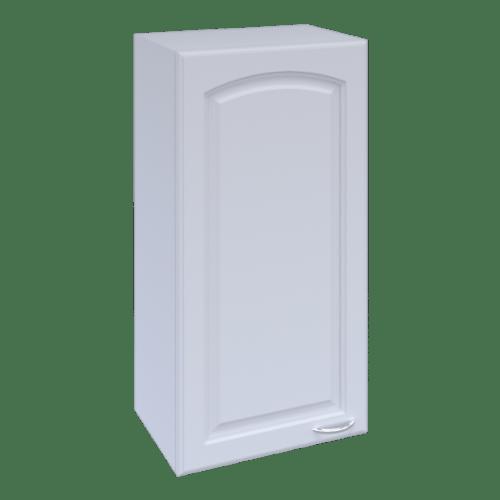 MJ ตู้แขวนเดี่ยวบานทึบโค้ง  W806C-W สีขาว