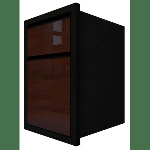 MJ ตู้ลิ้นชัก 2 ชั้น  HG-F606-WN สีวอลนัท
