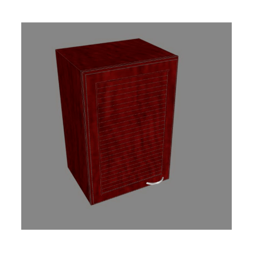 MJ ตู้เดี่ยวเกล็ดเต็ม   สีมะค่า W604L