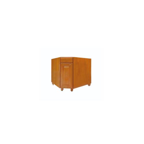 ตู้เข้ามุมหกเหลี่ยม รหัสJS-WC8236-T สีสัก/MJ  สัก