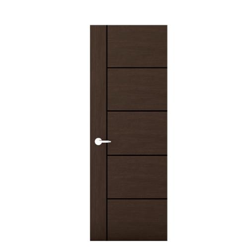 MJ ประตูปิดผิวเมลามีน เซาะร่องดำ  ขนาด 80x200ซม.   M1-80/200-DO  สีโอ๊ตดำ