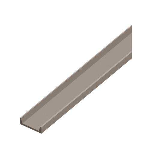 Dura one ไม้ตกแต่งซีเฟรม ดูร่าวัน 22.3x300x1.2 ซม. สีซีเมนต์  -