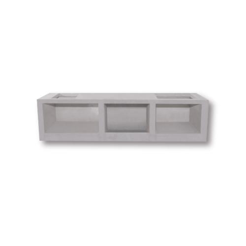 Dura one ผนังเสริมเหล็ก ดูร่าวันเคาน์เตอร์ ท็อป 56x90.5x7.5 cm. สีขาว
