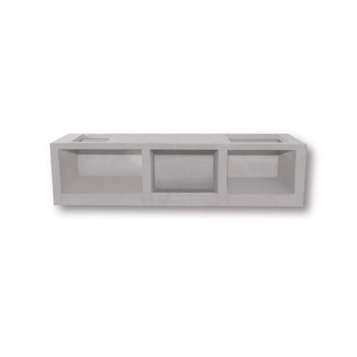 Dura one ผนังเสริมเหล็ก ดูร่าวันเคาน์เตอร์ ท็อป 56x200x7.5 cm. สีขาว
