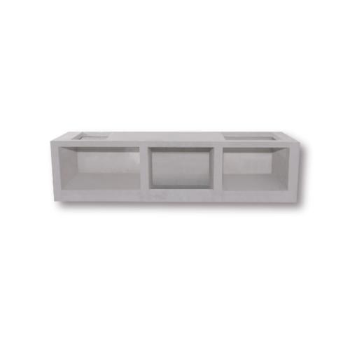 Dura one ผนังเสริมเหล็ก ดูร่าวันเคาน์เตอร์ เตา 56x90.5x7.5 cm. สีขาว